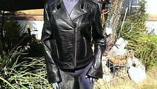 Scully Leather L248 Black Lamb Skin Women's Motorcycle Jacket   (M)