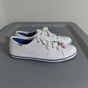 Keds Kick Start Charm Youth Kids Size 4M Low Top White Leather Walking Sneakers