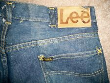 Vintage 60's LEE RIDERS Selvedge Denim Sanforized Men's Jeans Leather Patch 33