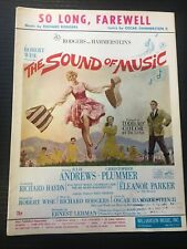 1959 The Sound of Music Vocal Selection Sheet Music Song Book Clean
