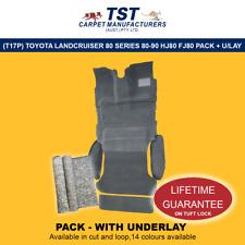MOULDED CAR CARPET (T17P) TOYOTA LANDCRUISER 80 SERIES 80-98 HJ80 FJ80 PACK+ULAY