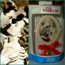 It's A Wonderful Life Enesco Christmas 'George & Mary' Porcelain Ornament NIB!