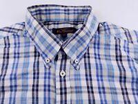 KS808 BEN SHERMAN check skin mod pure cotton flannel shirt size XL, hardly worn!