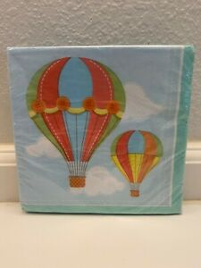 Up, Up & Away Hot Air Balloon Baby Shower Birthday Party Paper Napkins 16 count