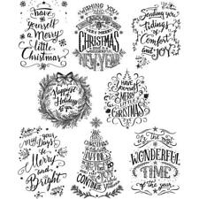 Tim Holtz Rubber Stamps Mini Doodle Greetings Christmas Stampers Anonymous