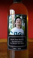 Custom Wine Bottle Sicker Label Teacher Gift Novelty Gift FOUR LABELS