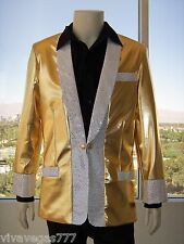NEW- ELVIS (1950's GOLD LAME' JACKET) Tribute Artist Costume (PRE- Jumpsuit Era)