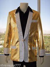 NEW- ELVIS (1950's GOLD LAME' JACKET) Tribute Artist Costume (PRE- Jumpsuit Era)