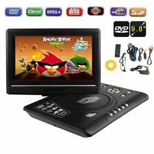 """9.8"""" LCD Portable DVD MP5 Player 270 Degree Swivel TV Game USB SD Card Reader US"""