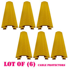 Lot of (6) Pyle PCBLCO19 Cable Protective Cover Ramp Cord/Wire Concealment Track