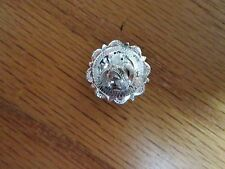 """Pico Edge Sterling Overlay 3/4"""" Concho with 3/8"""" chicago (1 concho)"""