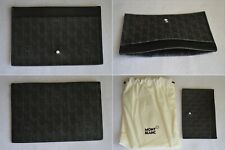 Montblanc Monogram Canvas & Leather Multi Credit Bank Card Wallet Holder