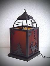 20 cm Lanterne Lampe de jardin Métal / Verre Photophore suspendue 300