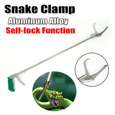 "47"" Self-lock Snake Clamp Reptile Feeding Use Grabber Handle Tongs Catcher Tool"