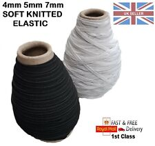 ULTRA SOFT Knitted FLAT ELASTIC Cord String 4mm 5mm 7mm For Making Face Masks