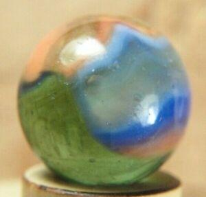 PELTIER MILLER SWIRL MARBLE htf PINK & BLUE TRANSPARENT GREEN BASE 15.2mm NrMnt