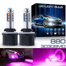 2x 880 899 High Power 15-3030SMD Pink Purple LED Projector Fog Lights Bulbs DRL