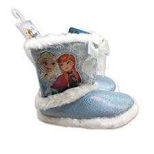 Toddler Girls' Disney Frozen Bootie Slippers - Blue Xl(11-12) New