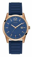 Guess Men's Perry Blue Dial & Rubber Strap Quartz Men's Watch W0991G4