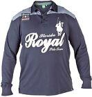 Grande Taille Pour Hommes Duke D555 Manches Longues Florida Polo Équipe