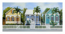 Key West Cottages John Ketley Landscape Tropical Ocean Palm Print Poster 12x24