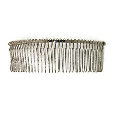 """6 Metal Hair Combs 32 Wire Teeth Silver Bridal Prom Supply Accessory 5"""" 130mm"""