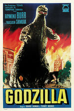 Godzilla King of the Monsters 1956 horror movie poster print 2