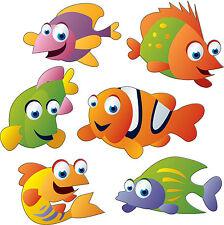 stickers enfant Poissons 30x30cm réf 3505