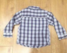 DEBENHAMS boys checked long sleeve shirt 100% cotton excellent cond. age 5 yrs