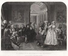 "ORIGINAL ""ART JOURNAL"" PRINT - WARD'S ""Dr. JOHNSON IN THE ANTE-ROOM""  (1853)"