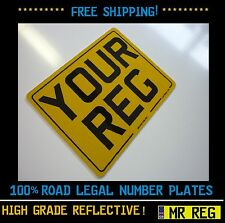 """MOTORBIKE /  MOTORCYCLE  REGISTRATION NUMBER PLATE SIZE 9"""" X 7"""" With Border"""