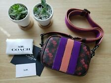 NWT Coach Womens mini Crossbody Camera Bag Black Oxblood