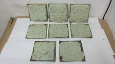 8 Antique  Victorian Tin Ceiling Tiles 6 x 6 Sage Green & Yellow Floral