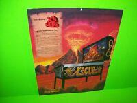 Bally X's & O's Pinball Flyer ORIGINAL 1983 Flipper Game Promo Artwork TEAR