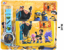 NEW DESPICABLE ME MINION KID CHILD ACCESSORIES WRIST WATCH & WALLET ELECTRONIC