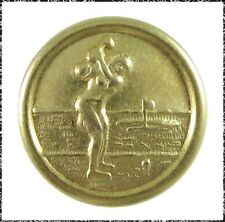 Metal Female Golfer Button, Small
