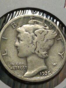1926 Mercury Silver Dime  VG