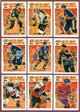 1995-96 Topps Super Skills + Platinum Parallel+ RC NHL HOCKEY CARD 1-90 SEE LIST