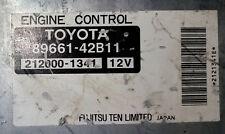 Toyota RAV4 89661-42B11 Ecu Ecm oem jdm used 211000-1341