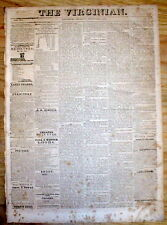 1825 LYNCHBURG VA newspaper CHARLES C PINKNEY DEAD Society Cincinnati President
