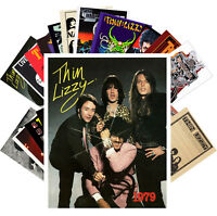 Postcards Pack [24 cards] Thin Lizzy Rock Music Posters Vintage CC1229