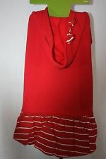 Holiday Dress Red Hooded with Bow 1 Piece SZ XL 100+ LBS