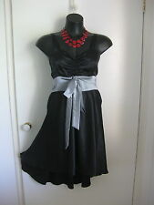 SIZE 16 SMART FLATTERING BLACK COCKTAIL DRESS WITH BOW DETAIL FROM VICKERS