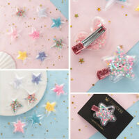 10PCS Hair Clip Accessories Bling Star Flowing Sequins Garment Appliques New