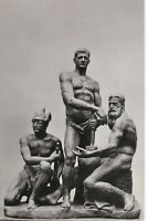 1975 Nude muscular men athletes Revolution workers Soviet Russian postcard gay