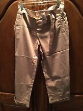 WHITE HOUSE BLACK MARKET TAN CROP LEG PANTS SIZE 14 NEW WITH TAGS