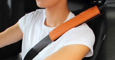 2Pcs/Set Leather Safe Belts Pad Kits For Car Truck Seat Shoulder Protector Cover