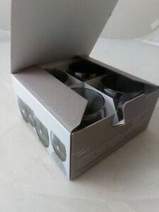 Set of 4 LSA International Hand-painted Zinc Tea Light Holders in a Box