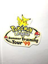 Pokemon League Summer Training Tour 1999 Pikachu Stickers Extremely Rare