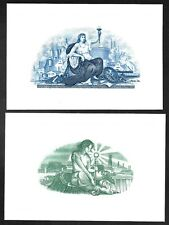 Engravings - Two Beautiful Engraved Vignettes - CU - Flawless Condition